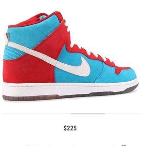 "Nike Dunk High SB premium ""bloody gums"" size 10"
